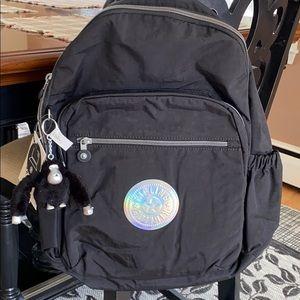 Black Kipling Seoul Hologram backpack NWT
